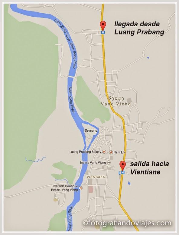 estaciones de autobus de Vang Vieng