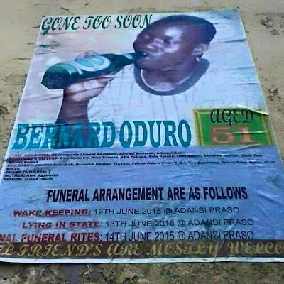 ghanaian man obituary poster