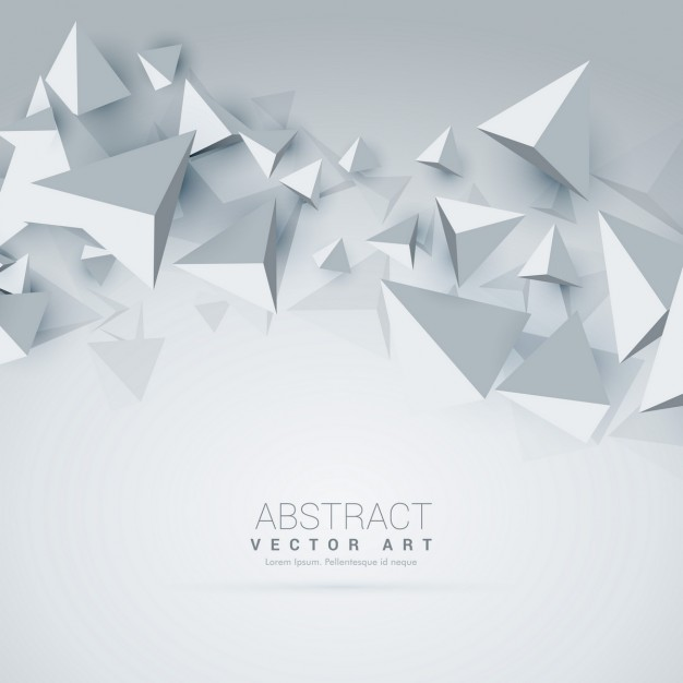 White background with 3d polygons Free Vector
