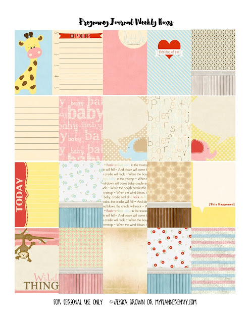 Free Printable Prenatal Journal Cards from myplannerenvy.com
