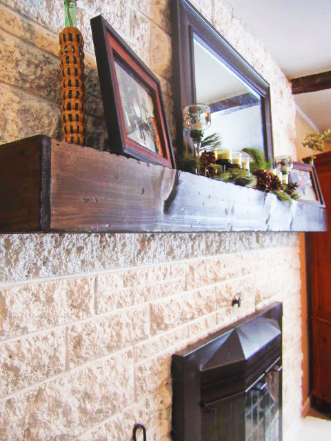 fireplace mantel beam. We  The Making of a Slip Covered Mantel FEARFULLY WONDERFULLY MADE