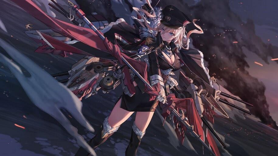 Azur Lane, Bismarck, Anime Girl, 4K, #4.1729