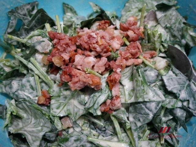 christmas spinach bacon recipe