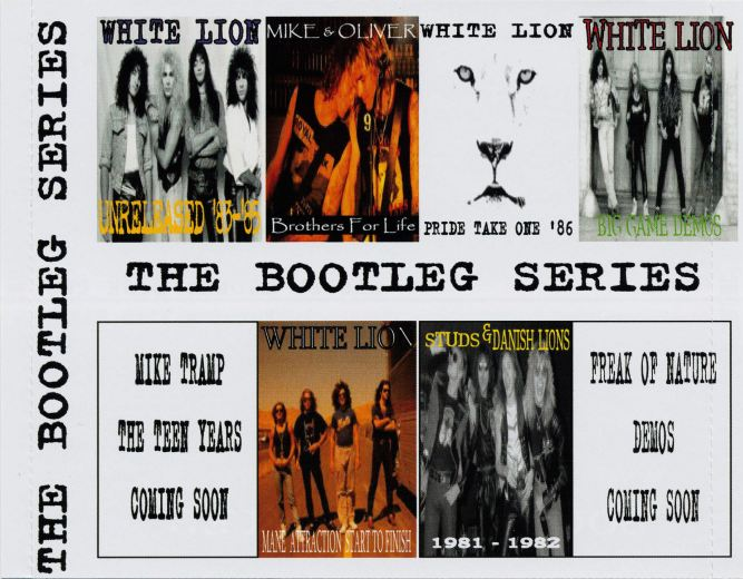 MIKE TRAMP - The Bootleg Series [Private 7-CD Box] Disc 5 WHITE LION Big Game Demos - inlay