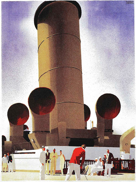 an Andrew Johnson travel poster illustration