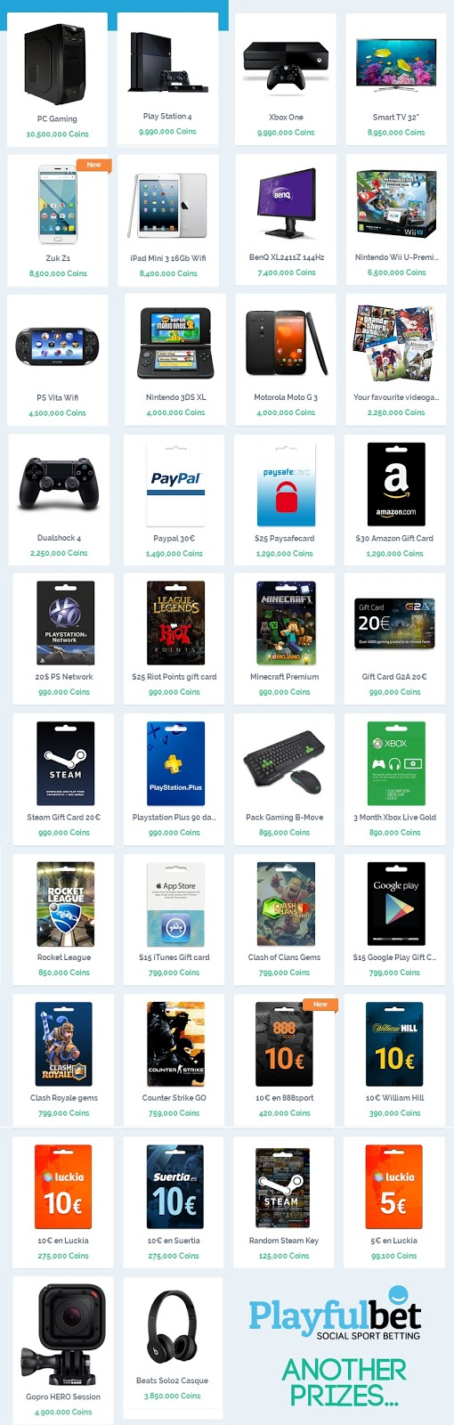 Playfulbet prizes images