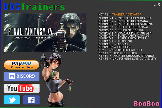Final Fantasy XV Trainers and Cheats for PC