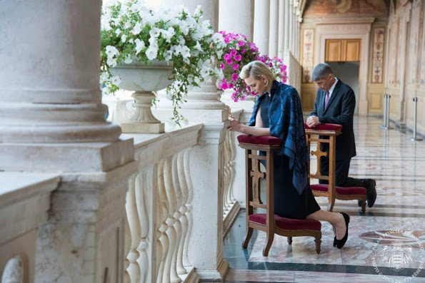 Princess Charlene Attended Corpus Christi celebrations In Monaco