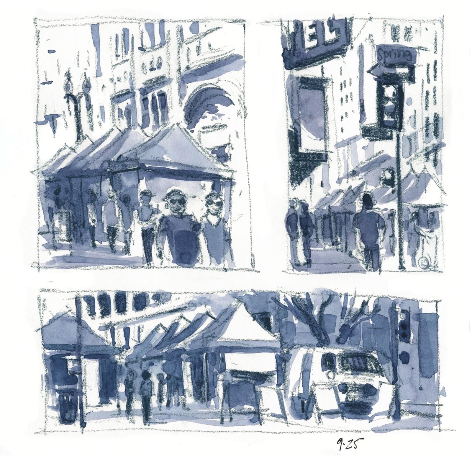 Sketching in Los Angeles...the LA Plein Air Festival | Urban Sketchers