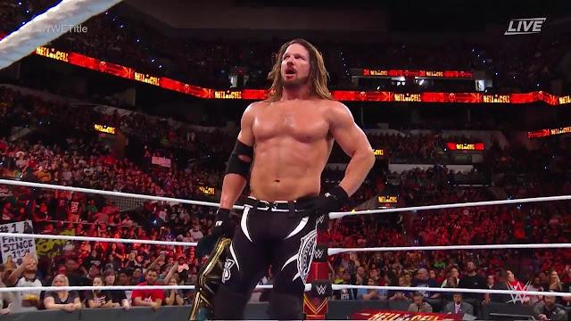 WWE Hell In A Cell AJ Styles (c) def. Samoa Joe