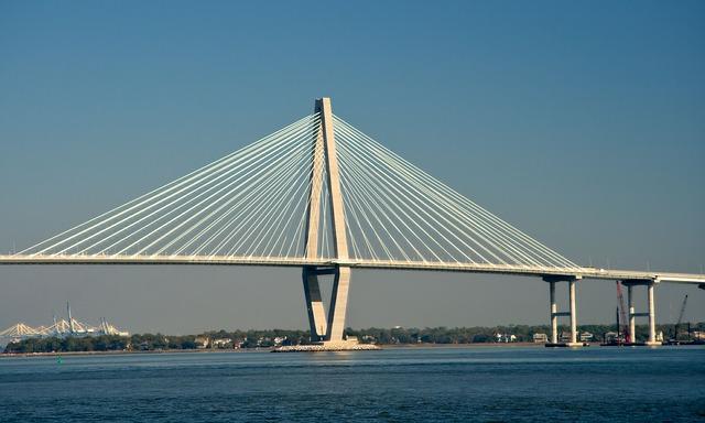 Charleston Bridge in South Carolina