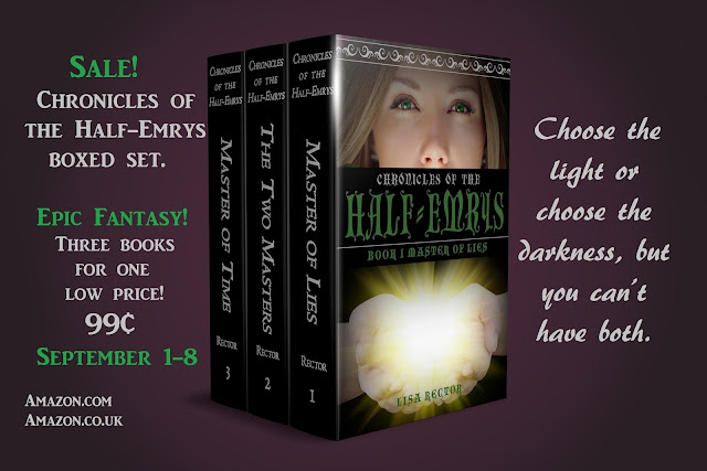 Epic Fantasy! Three books for one low price! 99¢ September 1-8 Amazon.com Amazon.co.uk  Choose the light or choose the darkness, but you can't have both.