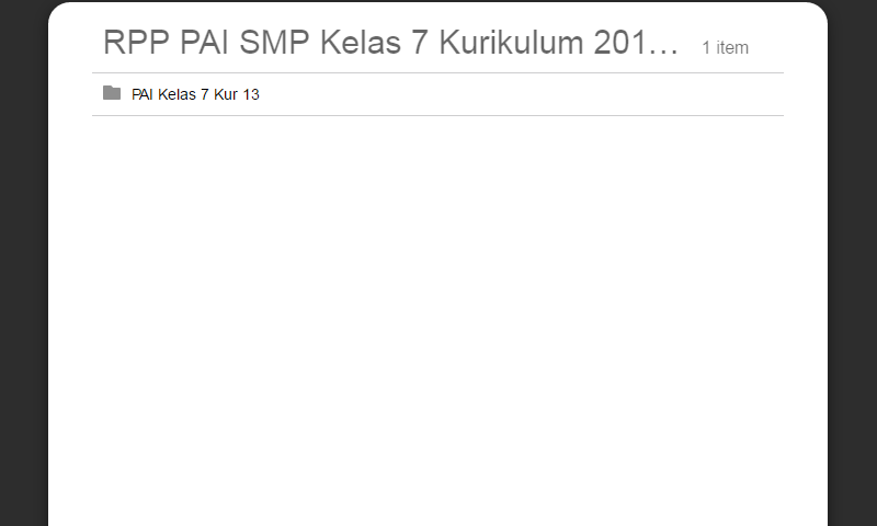 RPP PAI SMP Kelas 7 Kurikulum 2013 Lengkap Revisi Terbaru