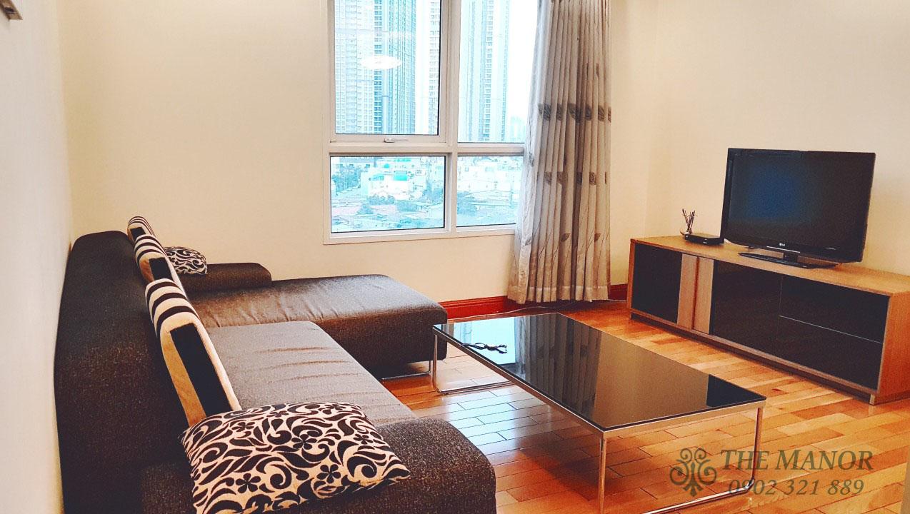 Căn hộ The Manor 2 phòng ngủ cho thuê 80m2 block F tầng thấp