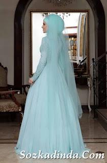 2019 tesettürlü abiye elbise modelleri