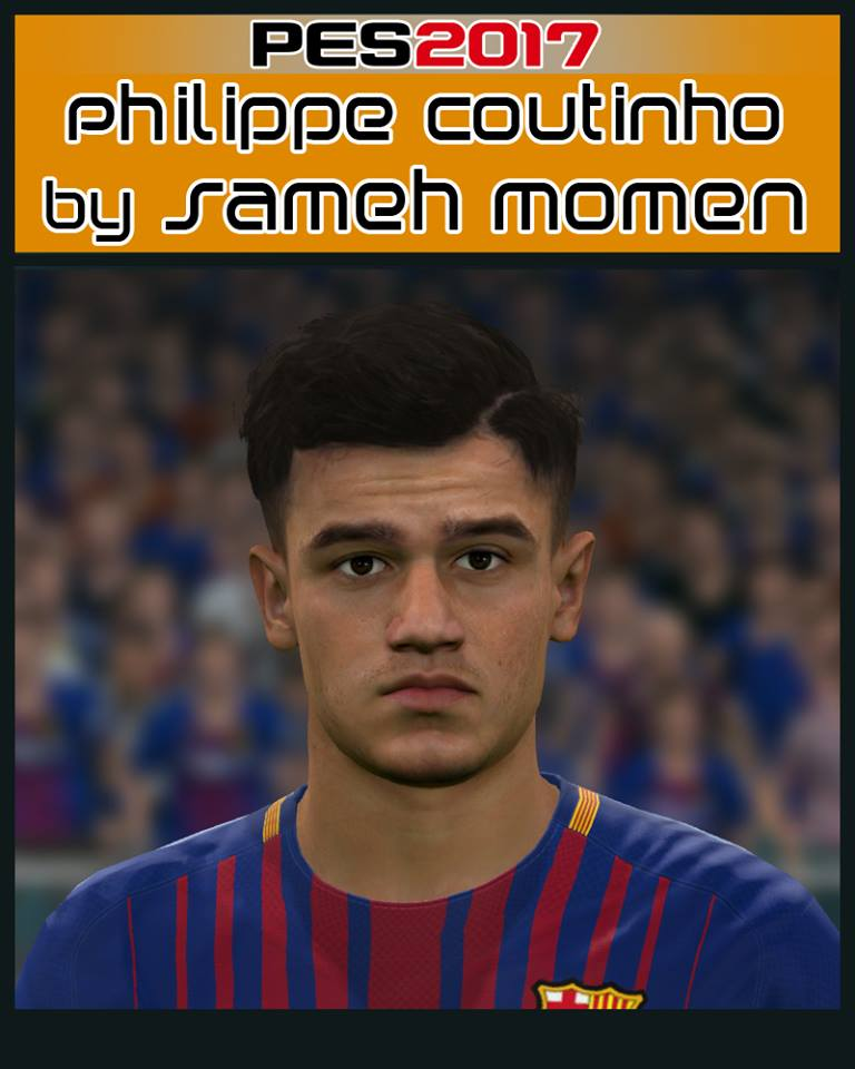 Pes 2017 L Moura Face By Sameh Momen: PES2017 Coutinho Face By Sameh Momen