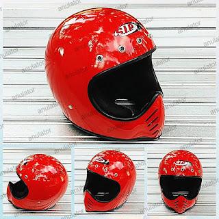 Helm Cakil Replika Moto3 SIP Merah Cabe