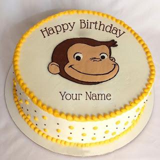 foto kue ulang tahun lucu dengan gambar George
