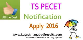 TS PECET Notification 2016, Telangana PECET Apply Online,TS PECET 2016 Counselling Dates,