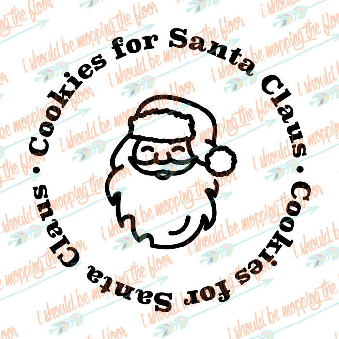 Cookies for Santa Cut File