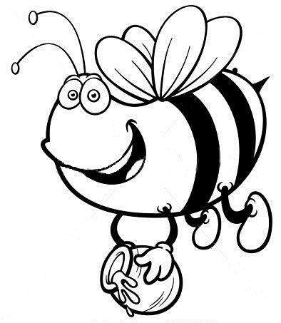 Planse De Colorat Si Fise Pentru Copii Albina Planse De