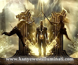 power kanye west illuminati swords horus chain