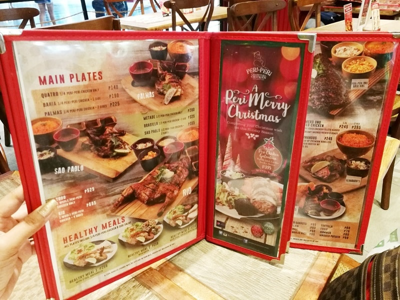 Peri-Peri Charcoal Chicken and Sauce Bar menu