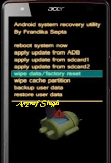 Hard Reset Acer Predator 8.