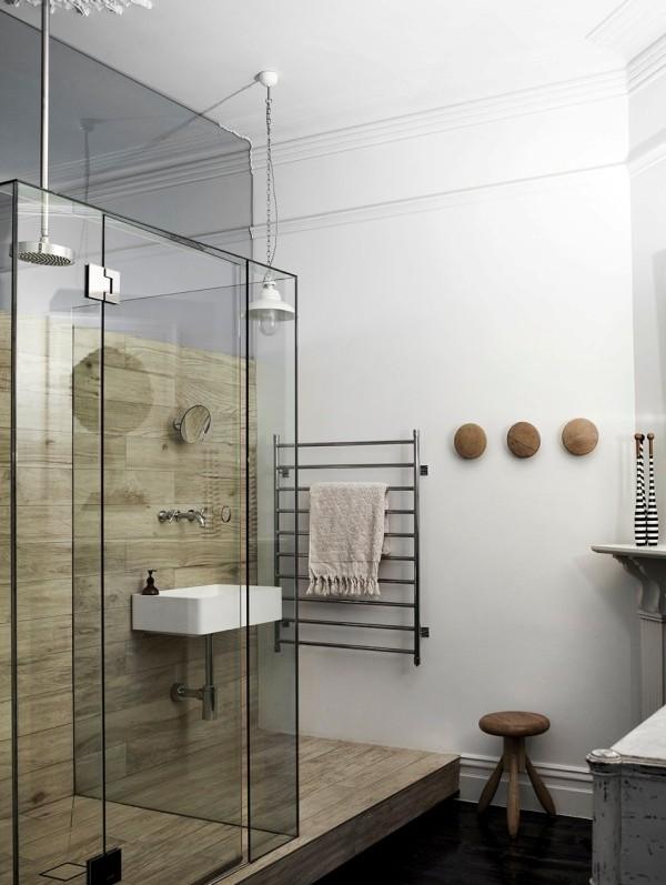 azulejos para baño que parecen madera chicanddeco