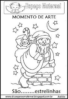 Desenho do Papai Noel colorir