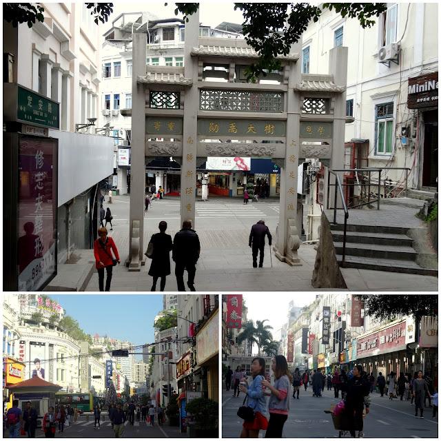 Ding'an Gate Road Zhongshan Lu Pedestrian Street in Xiamen, China