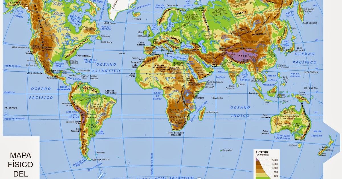 Mapa Fisic Del Mon.La Classe De Socials De 1r Mapa Fisic Del Mon