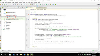 Android Studio Main Activity