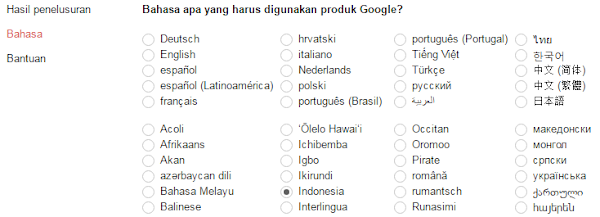 bahasa browser