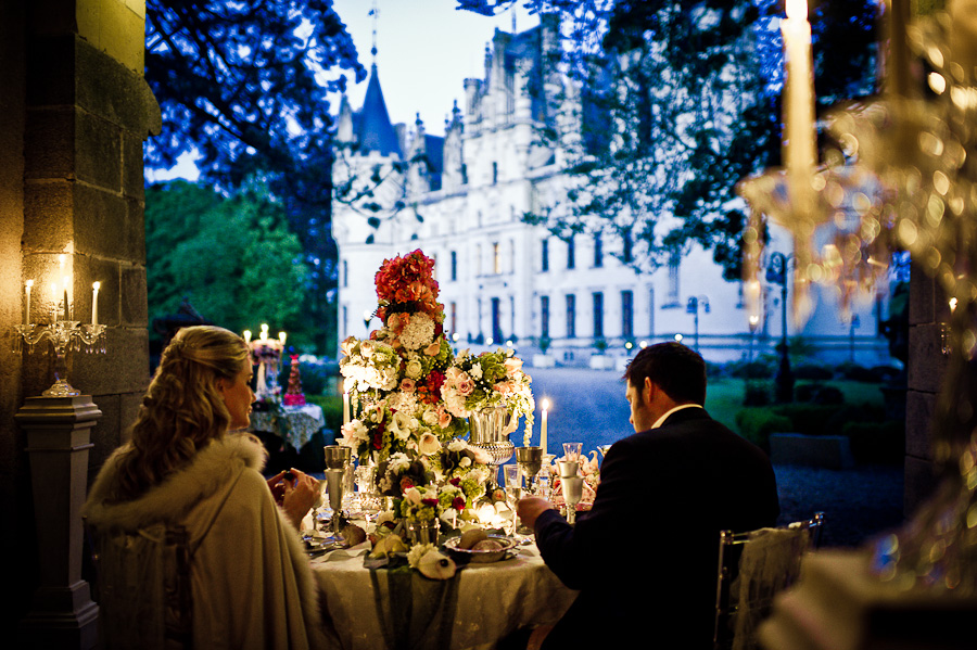 Wedding table florals in France inspiration