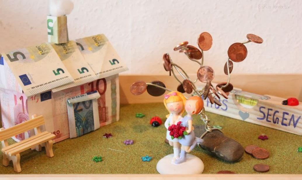 eska kreativ geldgeschenk hochzeitsgeschenk f r bauherren. Black Bedroom Furniture Sets. Home Design Ideas
