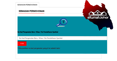 Semakan Status eRumah Johor 2019 Online