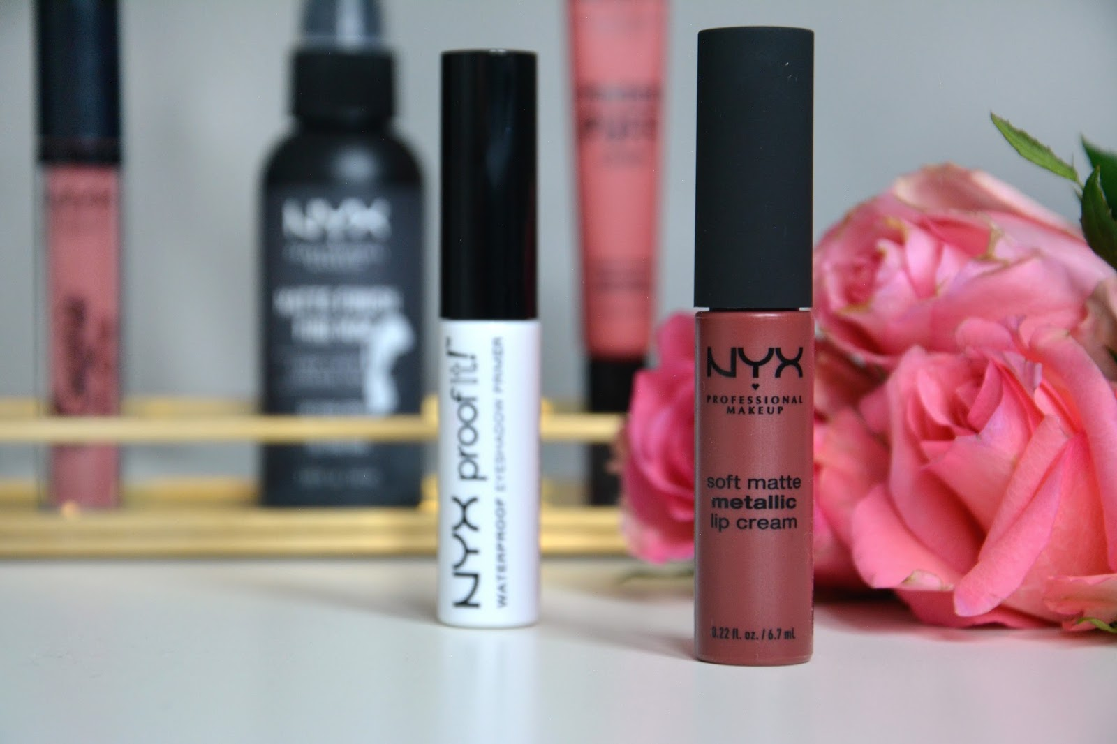 NYX Powder Puff Lippie; Squad Goals; NYX Matte Finish Long Lasting Setting Spray; NYX Lid Lingerie Matte Eye Tint; Lidli; NYX Proof It! Waterproof Eyeshadow Primer; NYX Soft Matte Metallic Lip Cream; Rome