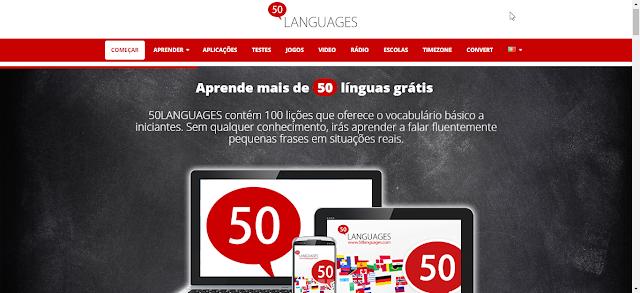 site disponibiliza cursos de idiomas para 50 linguas diferentes