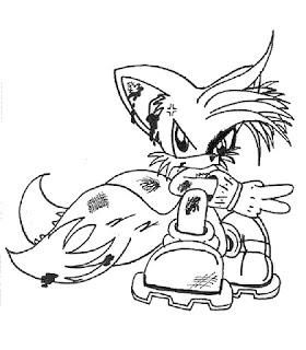 Ausmalbilder Sonic zum Ausdrucken
