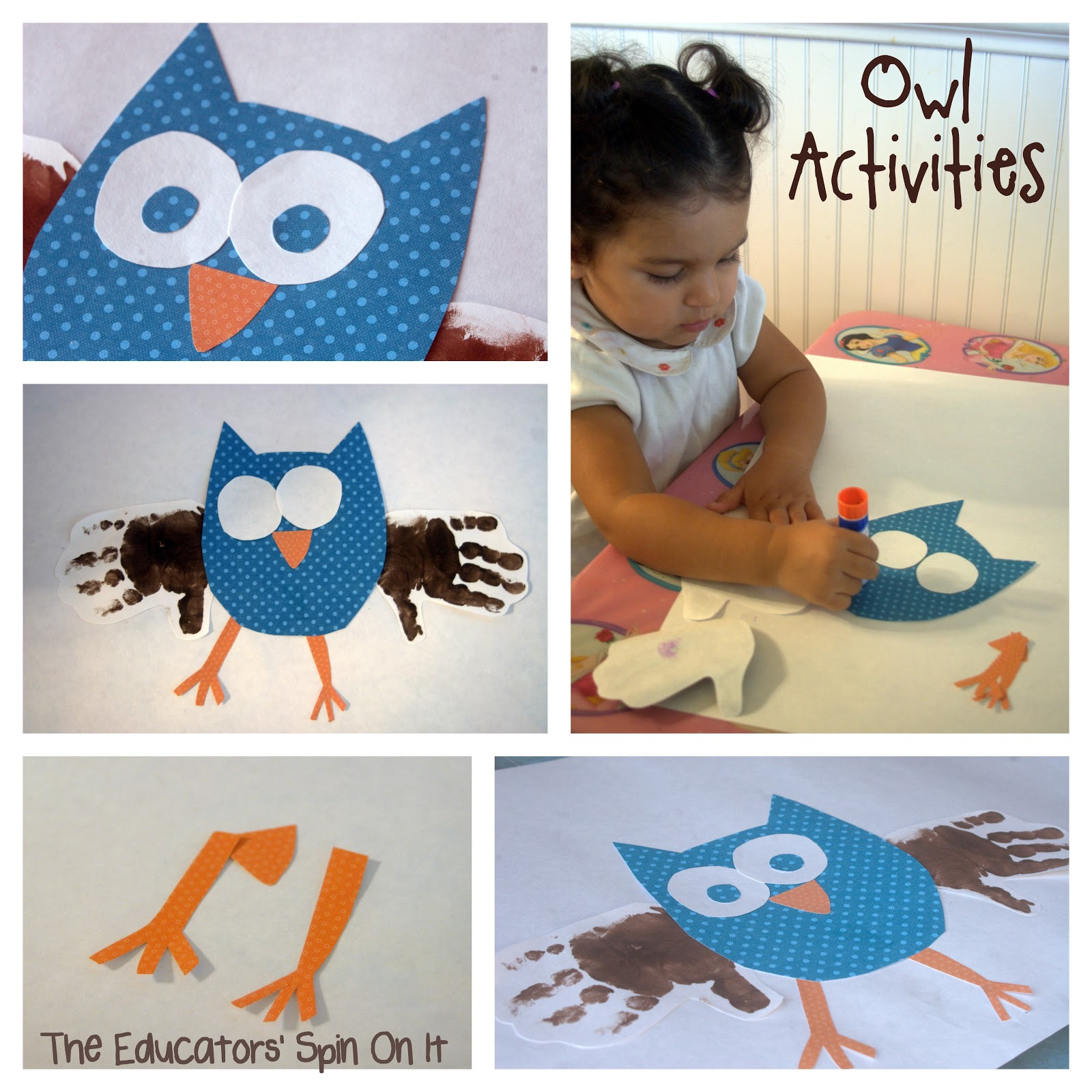The Educators Spin On It Owl Crafts Amp Activities Link Party