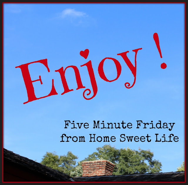Enjoy, five minute friday posts , cherishing life