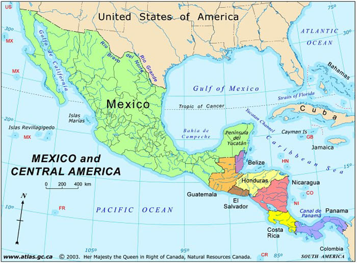 Mexico And America Map Afp Cv