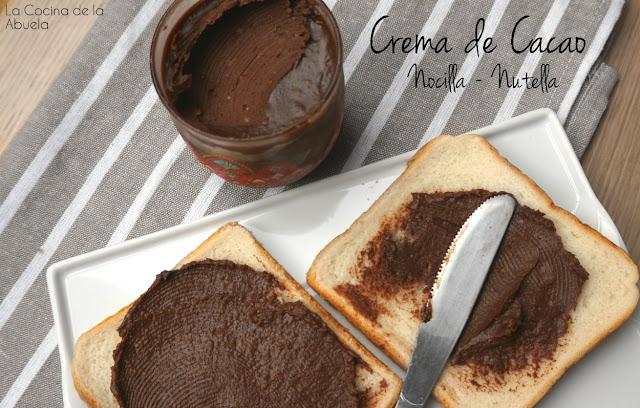 Crema cacao avellanas casera Nocilla Nutella receta