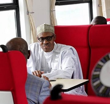 Buhari Commissions First Project, The Abuja-Kaduna Train Services, See Photos