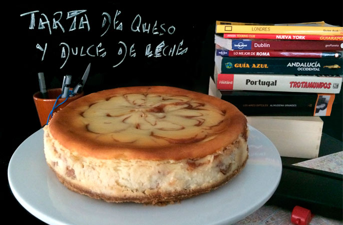 New York Cheesecake con dulce de leche