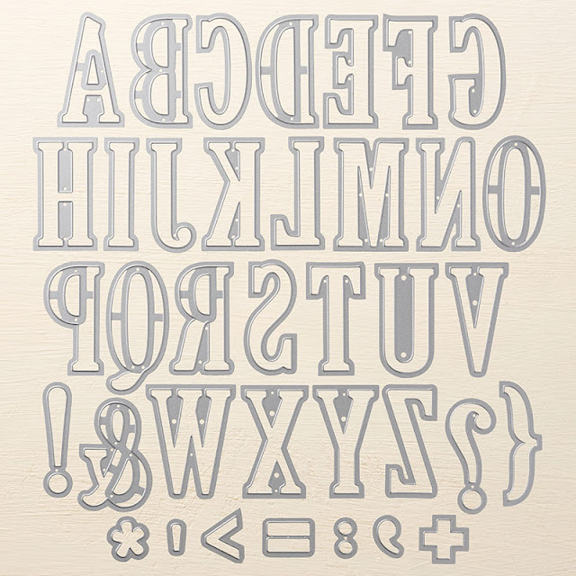 Large Letter dies Stampin Up