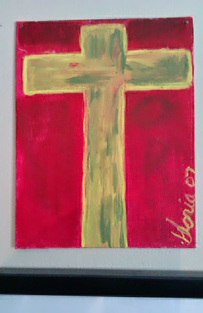 The Cross oil painting by Gloria Poole ; yr 2007