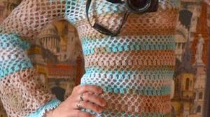 Vestido vintage al crochet