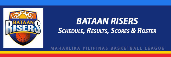 MPBL: Bataan Risers Schedule, Results, Scores, Roster